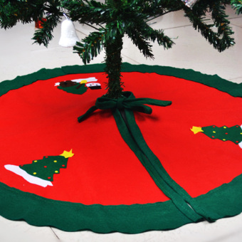 Christmas Tree Skirt Christmas tree Tree Skirt three-dimensional Christmas apron