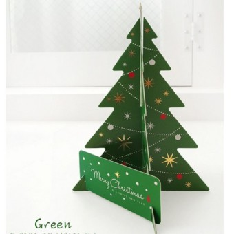 Christmas tree style three-dimensional Christmas greeting cards