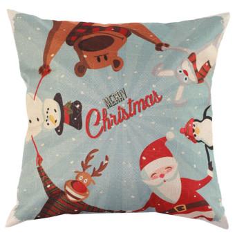 Christmas xmas santa reindeer cushion CASEpillow case festive home gifts (Intl)