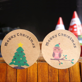 Classic Christmas gift decorative adhesive paper seal stickers