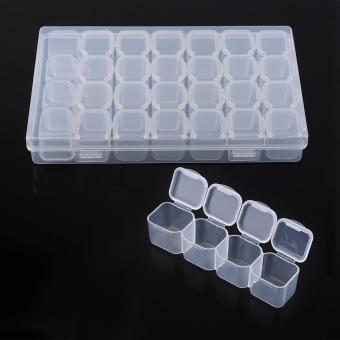 Clear 28 Slots Medicine Pill Jewelry Storage Organizer Box - intl Price Philippines