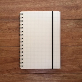 Clear Spiral Grid Notebook
