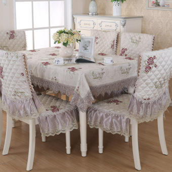 Clever mind fashion Jacquard tablecloth chair cover cushion Fabric