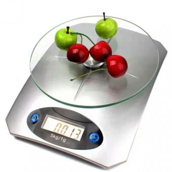 Clickee Digital Glass Kitchen Weighing Scale LCD 5KG/1G