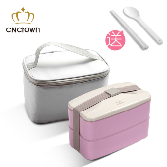 CnCrown double layer adult plastic container Japanese lunch box