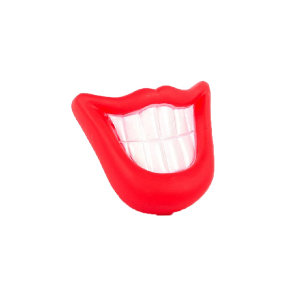 Cocotina Portable Funny Audible Lip Smile Pet Dog Puppy Treat Fetch Ball Toy Red & White - Daftar Update Harga Terbaru Indonesia