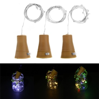 Cocotina Solar Wine Bottle Cork Shaped String Light 10 LED Night Fairy Light Lamp Xmas - intl Price Philippines