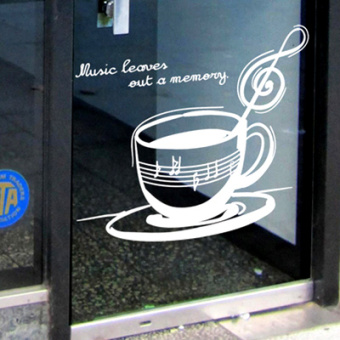 Coffee music restaurant west restaurant wall stickers adhesive paper