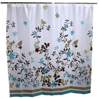Coffee Tree Bathroom Waterproof PEVA Shower Curtain - intl - 2