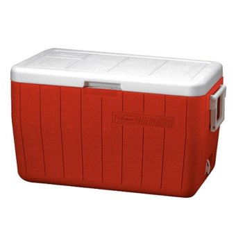 Coleman 48 Quart Cooler (Red)