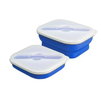 Collapsible Silicone Medium Lunch Box (Dark Blue) Price Philippines