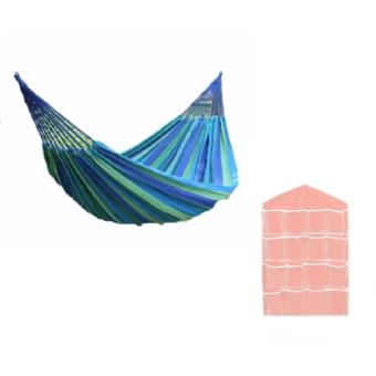 Colorful Canvas Hammock Duyan Hanging Sleeping Bed (color may vary)with 16 Pockets Panty Closet Organizer (color may vary) Price Philippines