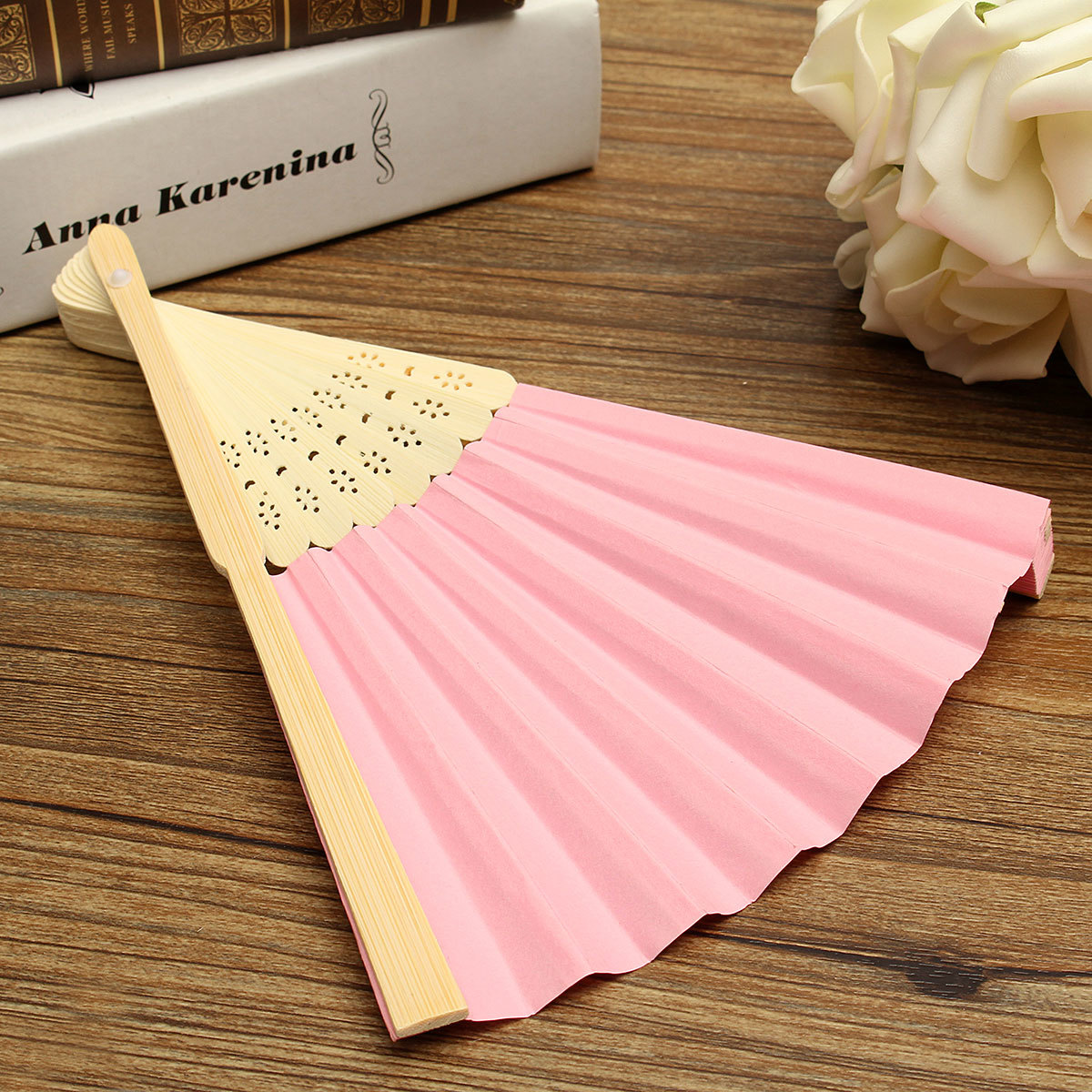 Philippines | Colorful Chinese Folding Bamboo Fan Retro Hand Paper ...