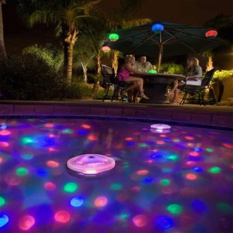 Colorful LED Underwater Floating Lamp Disco Party Night Light Show Swimming Pool Bulbs - intl