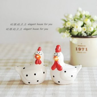 Companion handmade funny chick ceramic salt and pepper bottle