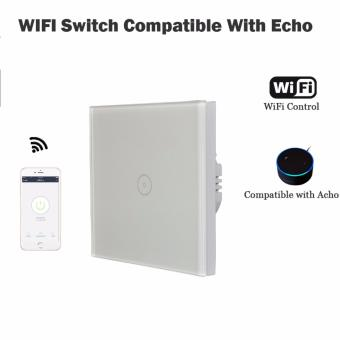 Compatible Alexa Echo 1 Gang Wall Switch WiFi smart remote controlLight Switch panel apk control - intl