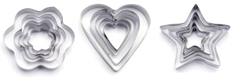 Cookie Cutter Set of 3 (Silver)