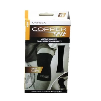 Copper Fit Copper Infused Compression Knee Sleeve (Black) - picture 2