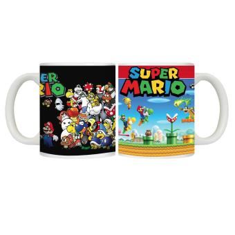 CopyCut Couple Cute Character Mug Super Mario Brothers versusVillains- 2pcs Gift Set Price Philippines