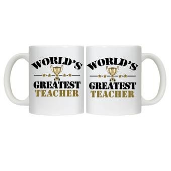 CopyCut Couple Cute Inspirational Statement Mug World's Greatest Teacher - Gift Set