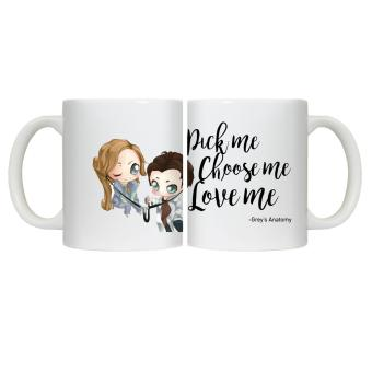 CopyCut Couple Cute Statement Mug Grey's Anatomy Pick Me Choose Me - Gift Set