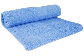 Cotton Bath Towel Set of 2 (Light Blue/Peach) - picture 2