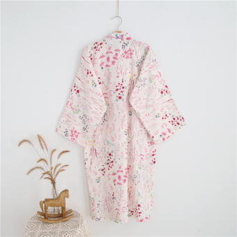 Cotton double layer gauze spring and summer thin bathrobe kimono bathrobe