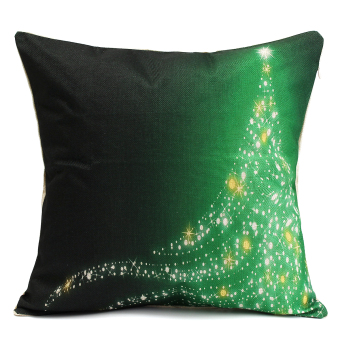 Cotton Linen Throw Pillow Cases Home Decorative Cushion Cover Square Pillow Christmas Design Pillow Case (#1) - intl