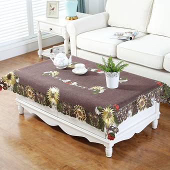 Country embroidered American dining table cloth
