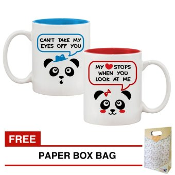 Couple Mugs Cute Panda Bear Gift Set Price Philippines