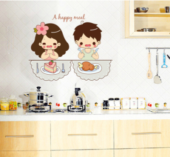 Couple's cute New style kitchen wall stickers