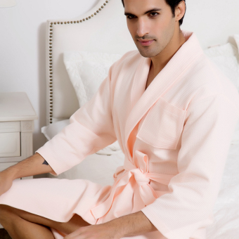 Couple's Summer five-star hotel bathrobe