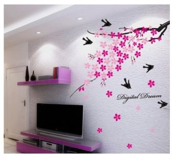 Cozy Home PVC Removable Wall Decor Sticker (Tree/Birds) - picture 2