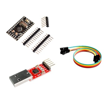 CP2102 Module + Pro Mini Module Atmega168 5V 16M For Arduino Compatible With Nano - intl