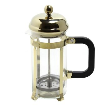 Creative 3-Cup Heat Resistant Glass French Press Coffee MakerCoffee Press Tea Maker Pot with Stainless Steel Holder, 350ml 12 ozHeat-resistant tea Golden - intl