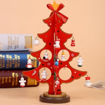 Creative Christmas Decorations DIY Wooden Christmas Tree CraftOrnaments Red Hot Sale - intl