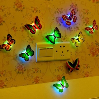 Creative Color Butterfly LED Lights a t Night Free Design - intl