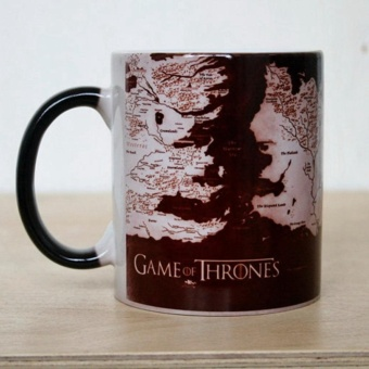 Creative Game of Thrones Map Mug Heat Sensitive Color ChangingCoffee Tea Mug Ceramic Mug - intl