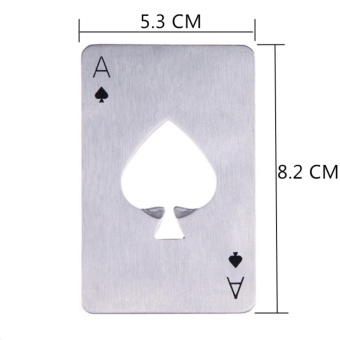 Creative Poker Card Beer Bottle Opener Funny Stainless Steel CardOf Spades Bar - intl - 4