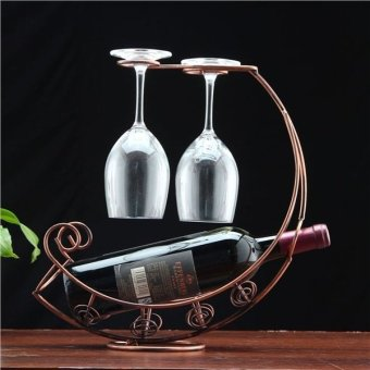 Creative Wine Cups Glasses Hanging Rack (Antique Brass)