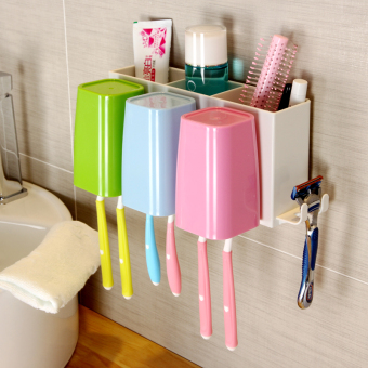 Cups cup washed Taiwan toothbrush cup shelf toothbrush holder