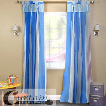 Curtain Essentials Carvey Curtain (Blue) Set of 2