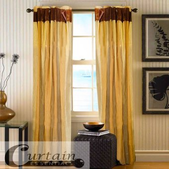Curtain Essentials Carvey Curtain (Brown) Set of 2