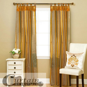 Curtain Essentials Chimalis Curtain (Golden Yellow) Set of 2 Price Philippines