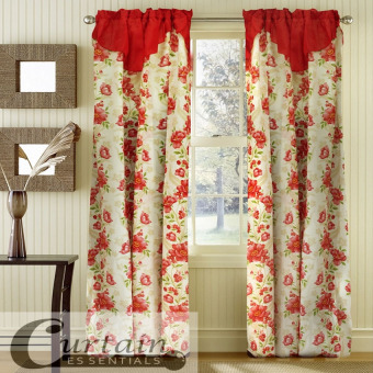 Curtain Essentials Daffodil Curtain (Red) Single Panel