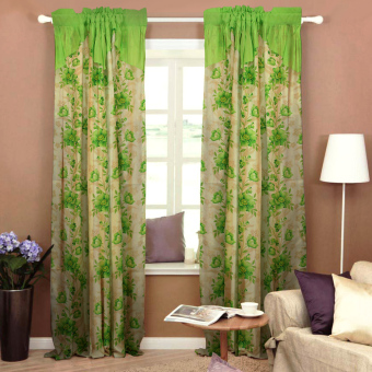 Curtain Essentials Daffodil Yellow Green Single Panel