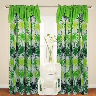 Curtain Essentials Fescues Yellow Green Single Panel