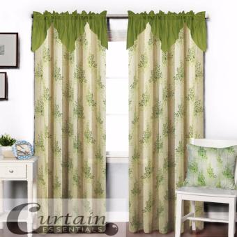Curtain Essentials Grass Flower (Green) Single Panel
