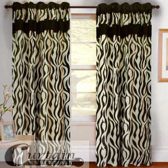 Curtain Essentials Jangury Black Single Panel