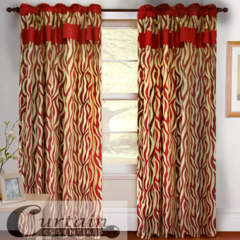 Curtain Essentials Jangury Maroon Single Panel